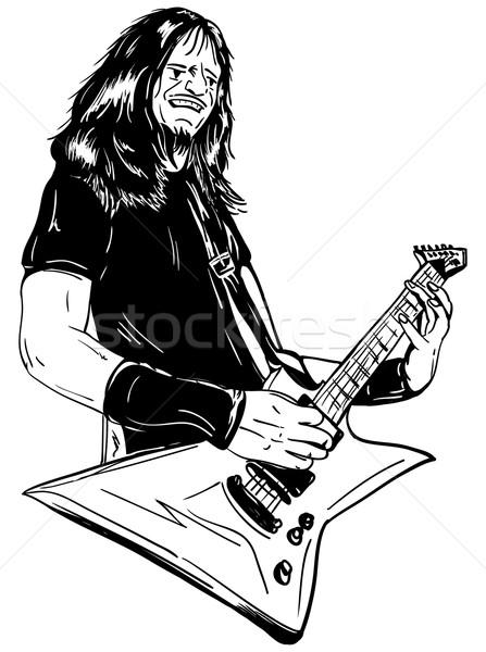 Vektör kaya müzik saç boya Stok fotoğraf © pavelmidi
