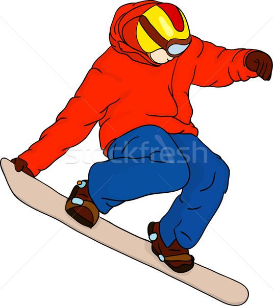 Snowboarder vettore isolato sport neve montagna Foto d'archivio © pavelmidi