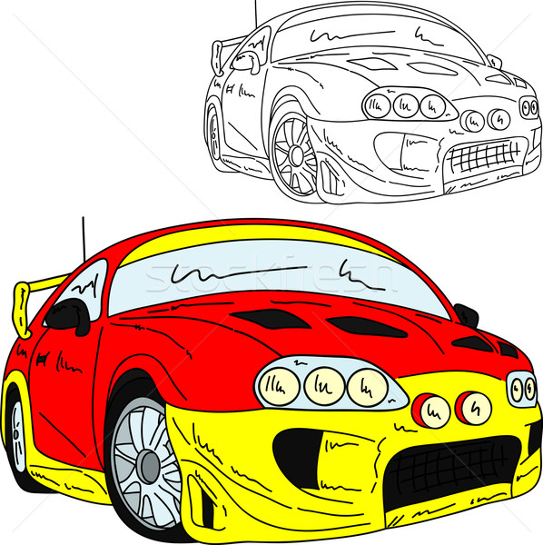 Sport auto rally vector tuning geïsoleerd Stockfoto © pavelmidi