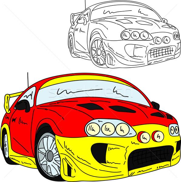 sport car rally Stock photo © pavelmidi