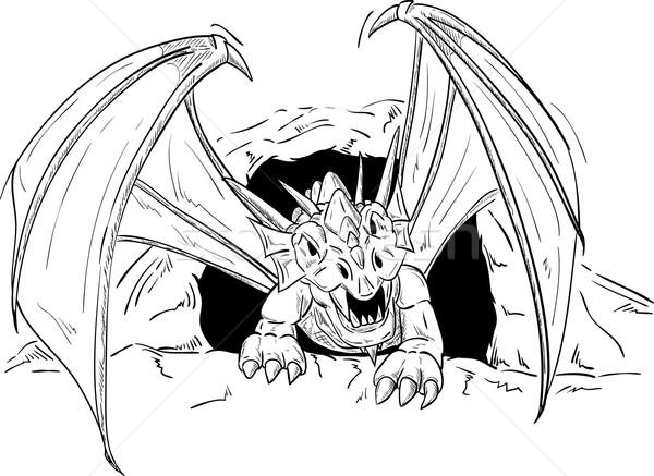 dragon going out Stock photo © pavelmidi