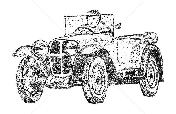 old car - isolated on background Stock photo © pavelmidi