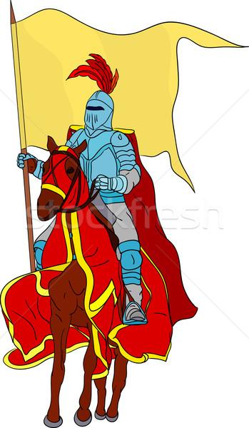 Stock photo: knight on horse