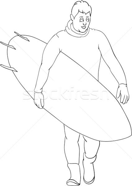 Surfista vetor isolado água homem esportes Foto stock © pavelmidi
