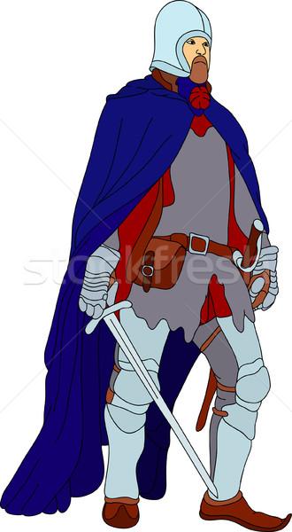 Knight with scimitar Stock photo © pavelmidi