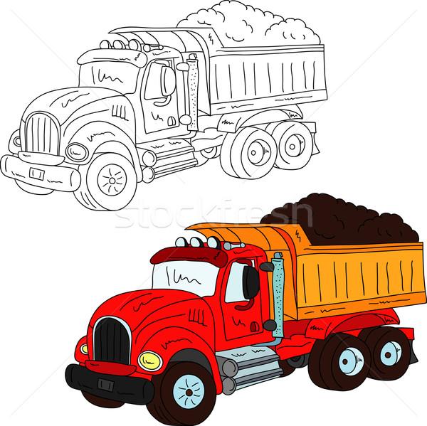 Büyük kamyon vektör yalıtılmış beyaz yol Stok fotoğraf © pavelmidi