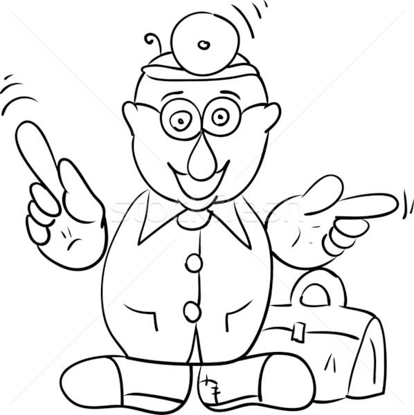 Doktor vektör çanta yalıtılmış adam hastane Stok fotoğraf © pavelmidi