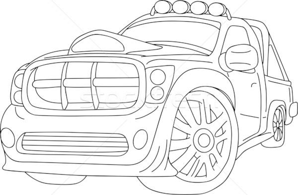 Araba vektör süper spor ayar kentsel Stok fotoğraf © pavelmidi