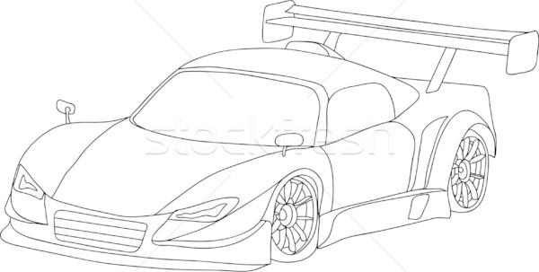 Stock photo: sport car