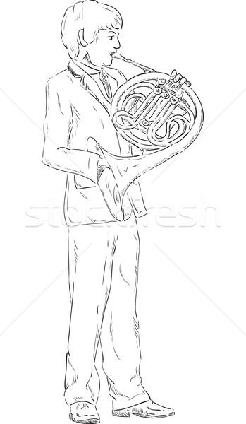 french horn  Stock photo © pavelmidi