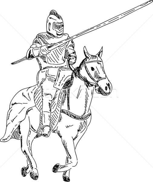Stock photo: knight on horse