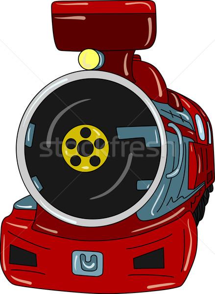 Locomotora vector edad aislado pintura Foto stock © pavelmidi