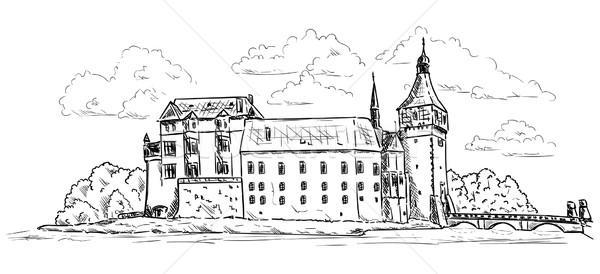 Palace and Castle Blatna Stock photo © pavelmidi