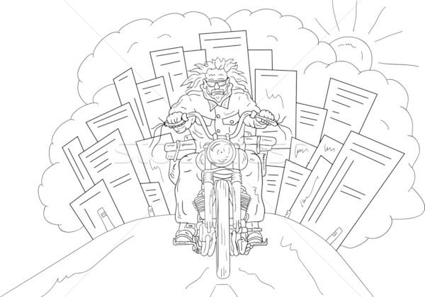 Bikers isolated Stock photo © pavelmidi