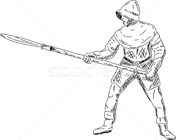 knight with spear Stock photo © pavelmidi