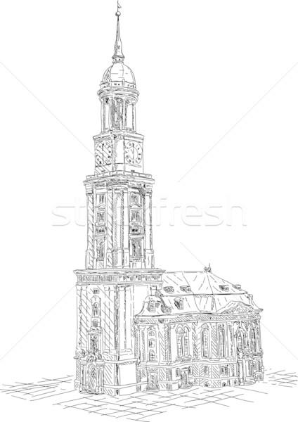 St. Michael church Stock photo © pavelmidi