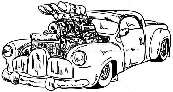 hot-rod car Stock photo © pavelmidi