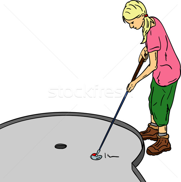 girl golf Stock photo © pavelmidi