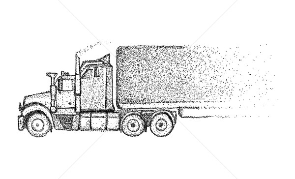 Caminhão isolado vetor carro fundo arte Foto stock © pavelmidi