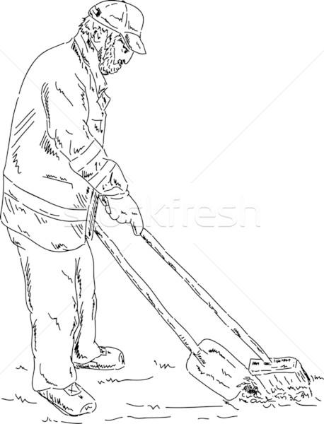 road sweeper Stock photo © pavelmidi