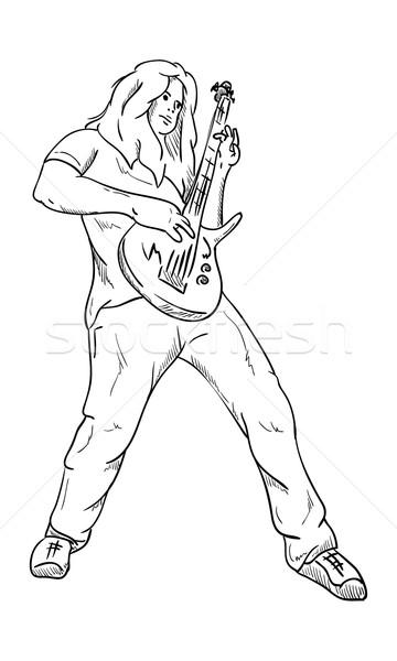 guitar player  Stock photo © pavelmidi
