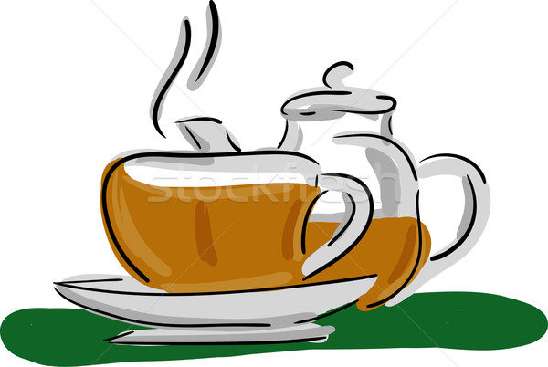 tea set Stock photo © pavelmidi