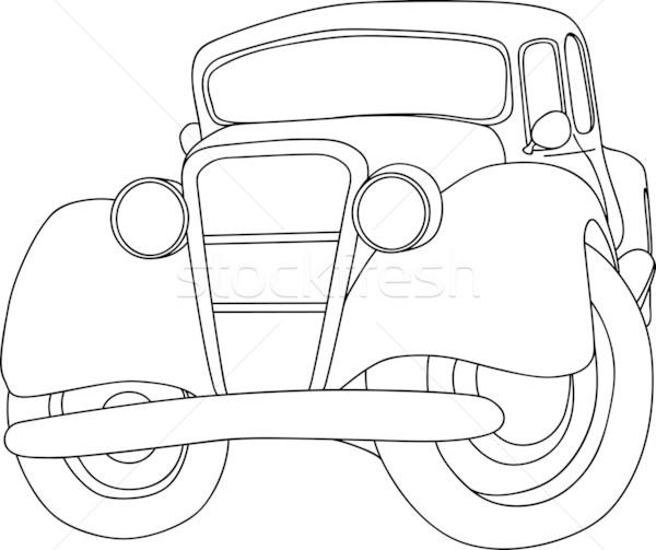 Oude auto vector geïsoleerd auto ontwerp kunst Stockfoto © pavelmidi