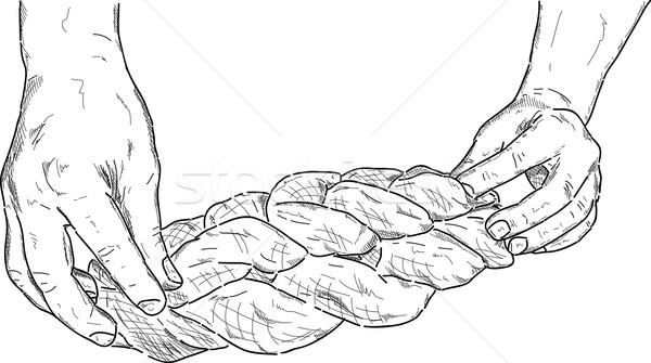 Baker vector dulce pan robado alimentos Foto stock © pavelmidi