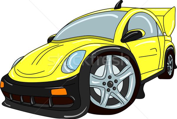 Araba vektör ayar yalıtılmış kentsel hızlandırmak Stok fotoğraf © pavelmidi