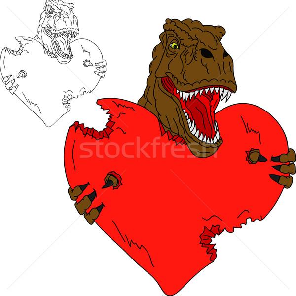 t rex with heart Stock photo © pavelmidi
