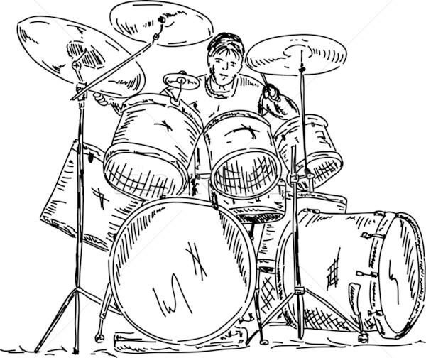 drummer playing Stock photo © pavelmidi