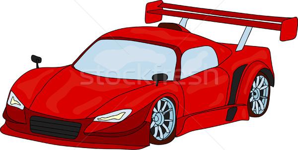 Araba vektör spor yalıtılmış model arka plan Stok fotoğraf © pavelmidi