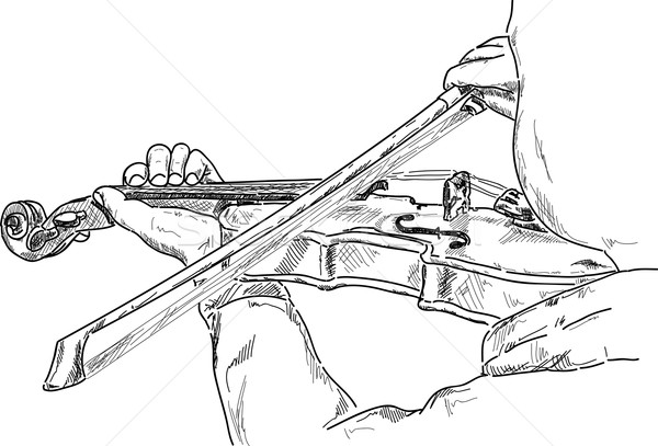 young violinist Stock photo © pavelmidi