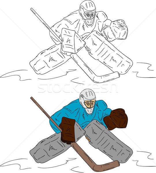 ice hockey goalie Stock photo © pavelmidi