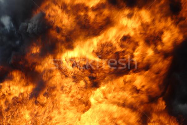 big fire Stock photo © pavelmidi