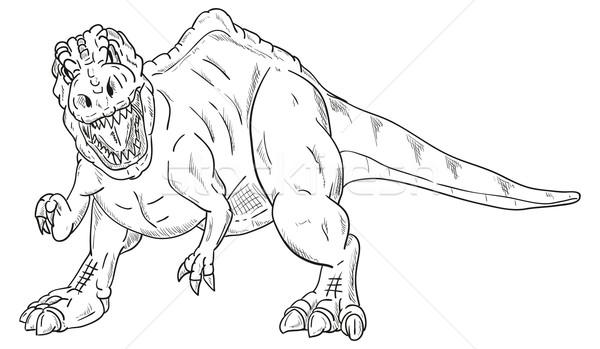 dinosaur attacking Stock photo © pavelmidi