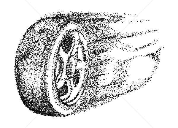 vector - car wheel motion Stock photo © pavelmidi
