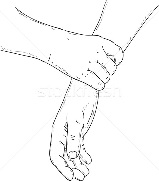 Stock photo: firm grip