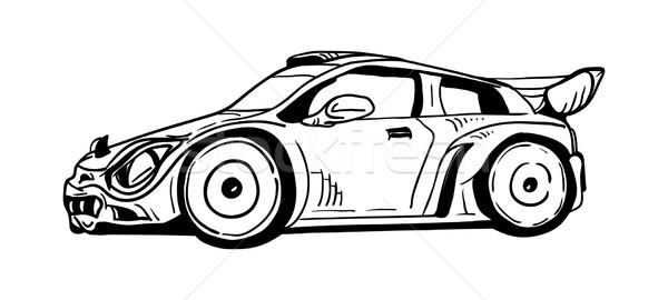 Sport voiture vecteur fond vitesse course Photo stock © pavelmidi
