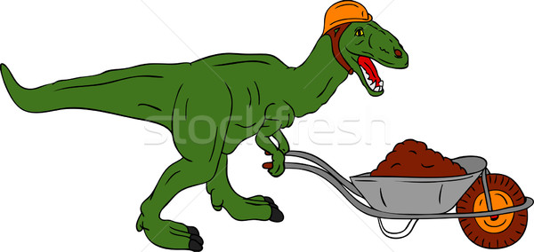 dinosaur worker Stock photo © pavelmidi