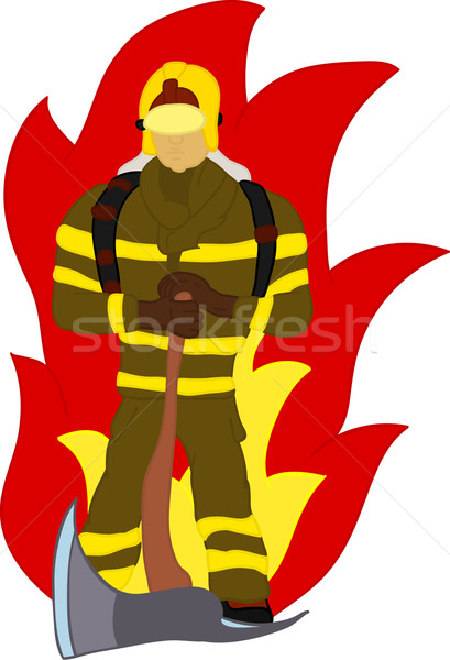 firefighter  Stock photo © pavelmidi
