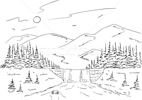 OUTLAST пейзажи горы реки леса нарисовано всему прочему