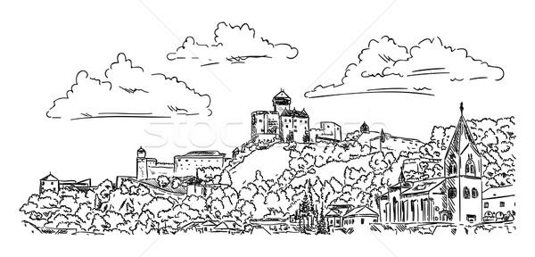 Castle  Trencin Stock photo © pavelmidi