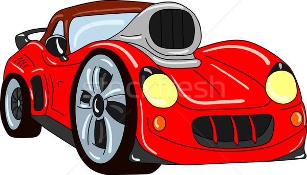 Araba vektör spor ayar yalıtılmış kentsel Stok fotoğraf © pavelmidi