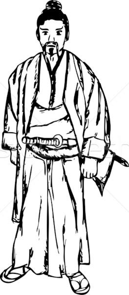 Samurai vetor antigo isolado homem esportes Foto stock © pavelmidi