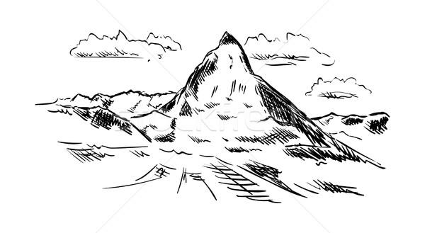 Wektora odizolowany charakter krajobraz tle górskich Zdjęcia stock © pavelmidi