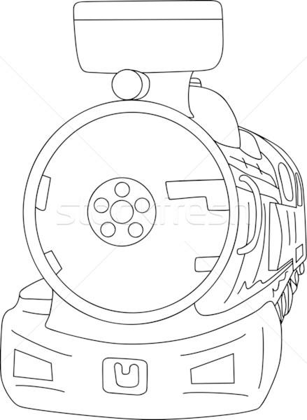 Locomotief vector oude stoomlocomotief geïsoleerd achtergrond Stockfoto © pavelmidi