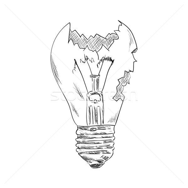 Kırık ampul vektör ışık arka plan lamba Stok fotoğraf © pavelmidi