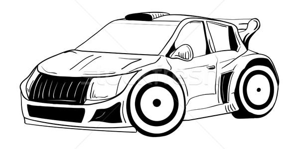 Spor araba vektör sanat hızlandırmak siyah Stok fotoğraf © pavelmidi