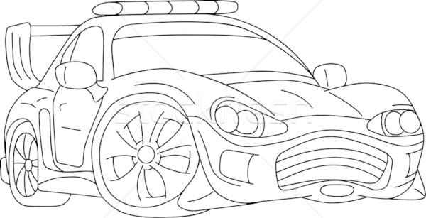 Araba vektör spor ayar ışıklar Stok fotoğraf © pavelmidi